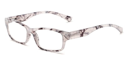Angle of The Mars in White/Black Tortoise, Women's and Men's Rectangle Reading Glasses