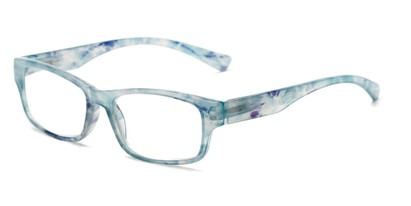 Angle of The Mars in Blue Tortoise, Women's and Men's Rectangle Reading Glasses