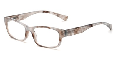 Angle of The Mars in Brown/Blue Tortoise, Women's and Men's Rectangle Reading Glasses