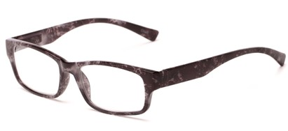 Angle of The Mars in Black/Grey Tortoise, Women's and Men's Rectangle Reading Glasses