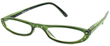 Rhinestone Half Frame Readers with Rhinestones :  womens reading glasses rhinestone reading glasses green reading glasses half frame reading glasses