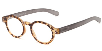 Angle of The Ari in Tortoise with Grey, Women's Round Reading Glasses
