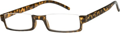 Angle of The Brent in Tan Tortoise, Women's and Men's Rectangle Reading Glasses