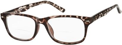 Angle of The Williamsburg Bifocal in Brown/Red Tortoise, Women's and Men's Retro Square Reading Glasses