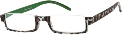 Angle of The Barlow in Green Tortoise, Women's Rectangle Reading Glasses