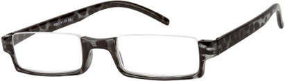 Angle of The Barlow in Black Tortoise, Women's Rectangle Reading Glasses