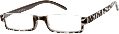 Angle of The Barlow in Grey Tortoise, Women's Rectangle Reading Glasses