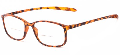 Angle of The Poe Bifocal in Matte Tortoise, Women's and Men's Rectangle Reading Glasses
