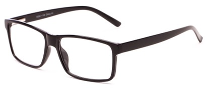 Angle of The Oklahoma in Black, Women's and Men's Rectangle Reading Glasses