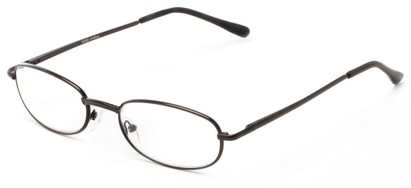 Angle of The Libra in Black, Women's and Men's Oval Reading Glasses