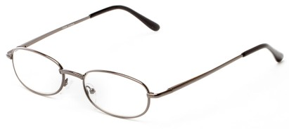 Angle of The Libra in Gunmetal, Women's and Men's Oval Reading Glasses