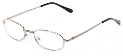Angle of The Libra in Silver, Women's and Men's Oval Reading Glasses