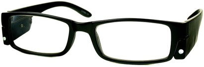 Angle of The Stratford Lighted Reader in Black, Women's and Men's