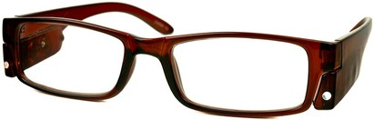 Angle of The Stratford Lighted Reader in Clear Brown, Women's and Men's