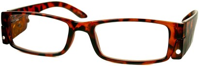 Angle of The Stratford Lighted Reader in Tortoise Brown, Women's and Men's