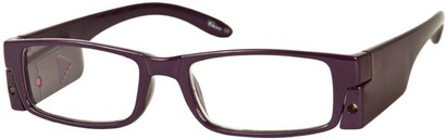 Angle of The Stratford Lighted Reader in Purple, Women's and Men's