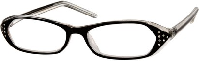 Angle of The Portia in Black and Clear, Women's and Men's