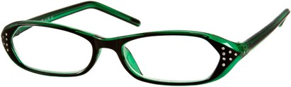 Angle of The Portia in Black and Jade Green, Women's and Men's