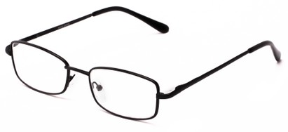 Angle of The Noah in Black, Women's and Men's Rectangle Reading Glasses