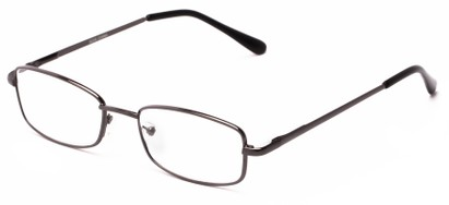 Angle of The Noah in Gunmetal, Women's and Men's Rectangle Reading Glasses