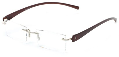 Angle of The Marquee in Brown, Women's and Men's Retro Square Reading Glasses