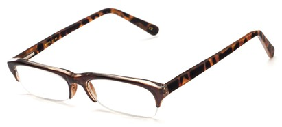 Angle of The Annette in Brown with Tortoise Temples, Women's and Men's