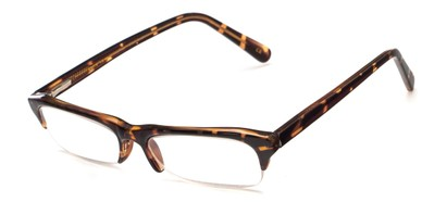 Angle of The Annette in Allover Brown Tortoise, Women's and Men's