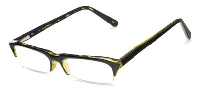 Angle of The Annette in Black with Tan Tortoise Inside, Women's and Men's