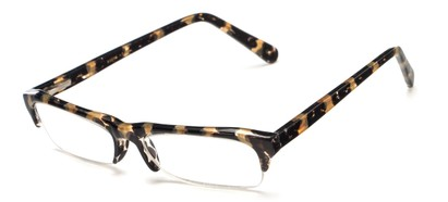 Angle of The Annette in Allover Black/Tan Tortoise, Women's and Men's