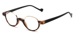 Angle of The Raegan in Tortoise/Black, Women's and Men's Round Reading Glasses