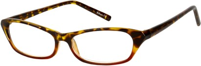 Angle of The Janine in Tortoise/Red, Women's and Men's