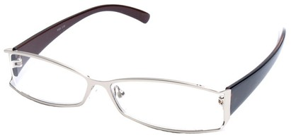 Angle of The South Hampton in Silver with Dark Brown Temples, Women's and Men's