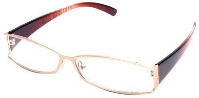 Angle of The South Hampton in Gold with Red Temples, Women's and Men's