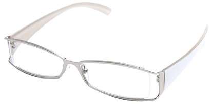 Angle of The South Hampton in Silver with White Temples, Women's and Men's