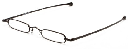 Angle of The Royce Slim Reader in Black, Women's and Men's Rectangle Reading Glasses