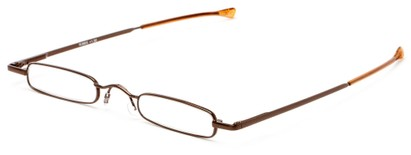 Angle of The Royce Slim Reader in Bronze, Women's and Men's Rectangle Reading Glasses