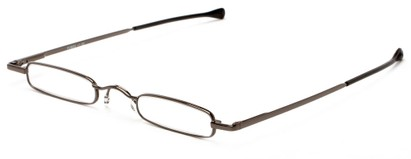 Angle of The Royce Slim Reader in Grey, Women's and Men's Rectangle Reading Glasses