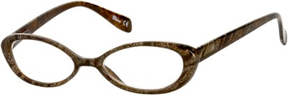 Angle of The Odette in Brown/Gold Swirl, Women's and Men's