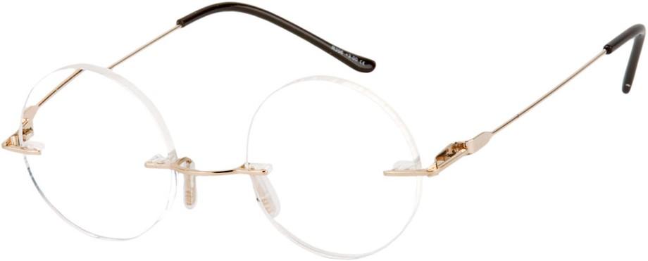 Frameless Circle Glasses : Steve Jobs Round Rimless Reading Glasses