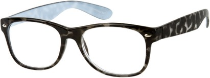 Angle of The Herald in Grey Tortoise, Women's and Men's Retro Square Reading Glasses