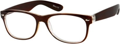 Angle of The Herald in Brown, Women's and Men's Retro Square Reading Glasses