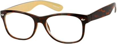 Angle of The Herald in Brown Tortoise, Women's and Men's Retro Square Reading Glasses