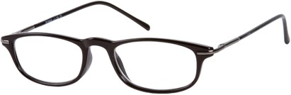 Angle of The Palermo in Black/Grey, Women's and Men's Rectangle Reading Glasses