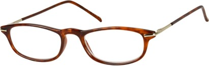 Angle of The Palermo in Brown/Silver, Women's and Men's Rectangle Reading Glasses