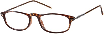 Angle of The Palermo in Brown Tortoise/Grey, Women's and Men's Rectangle Reading Glasses