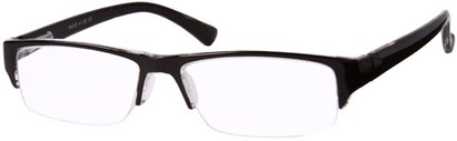 Angle of The Webster in Black, Women's and Men's Browline Reading Glasses