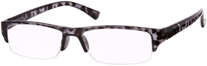 Angle of The Webster in Black Tortoise, Women's and Men's Browline Reading Glasses