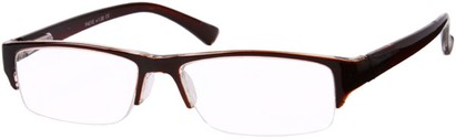 Angle of The Webster in Brown, Women's and Men's Browline Reading Glasses