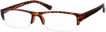 Angle of The Webster in Brown Tortoise, Women's and Men's Browline Reading Glasses