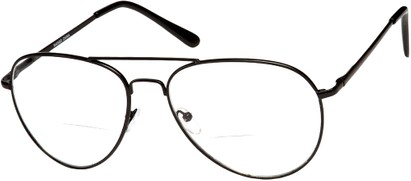 Angle of The Wharton Bifocal in Black, Women's and Men's